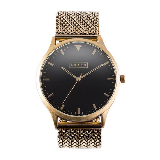 Reloj Copérnico Acero Dorado