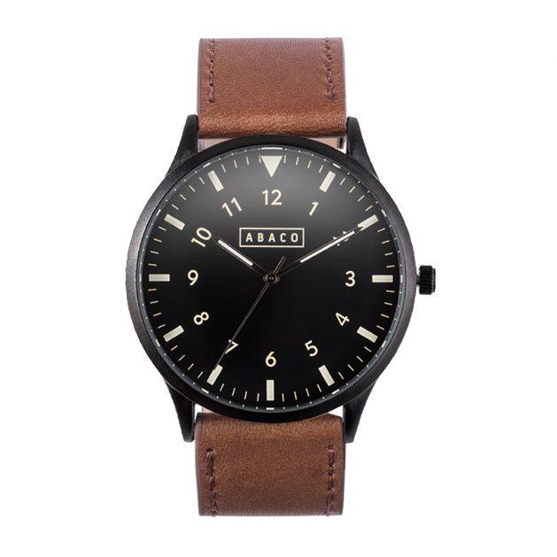 Reloj Edison Cuero Caoba