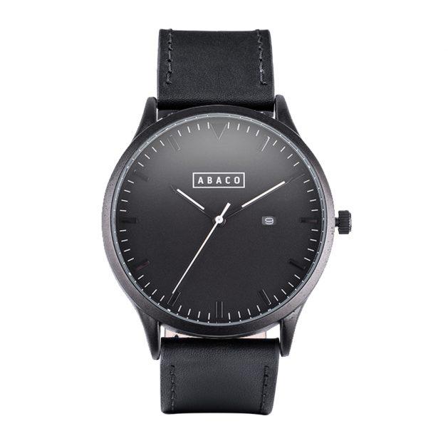 Reloj Harrison Cuero Negro Mate