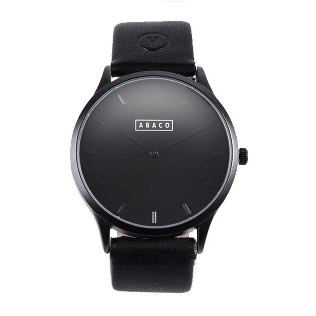Reloj Hooke Cuero Negro