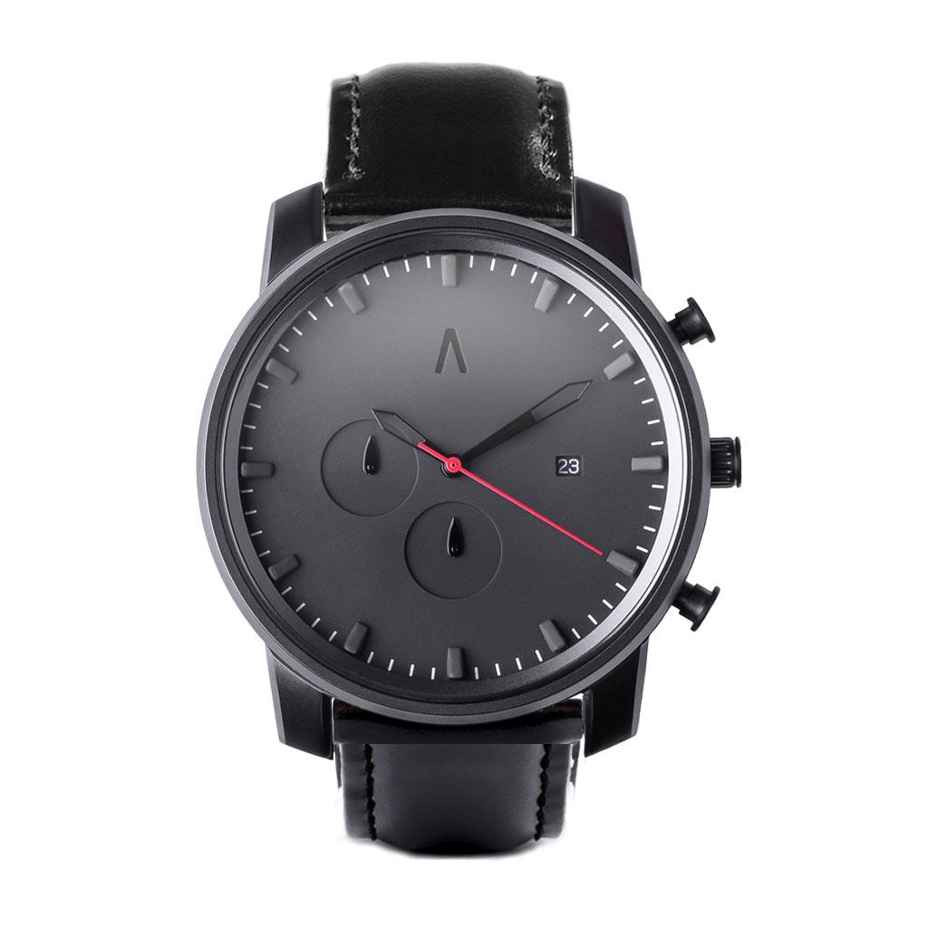 a3d9a157d55d Reloj Hades Cuero Classic Negro - Abaco Relojes - 3 Cuotas Sin Interés
